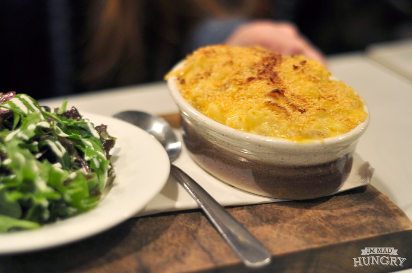 Main | Mac and Cheese with a Side Salad | $13