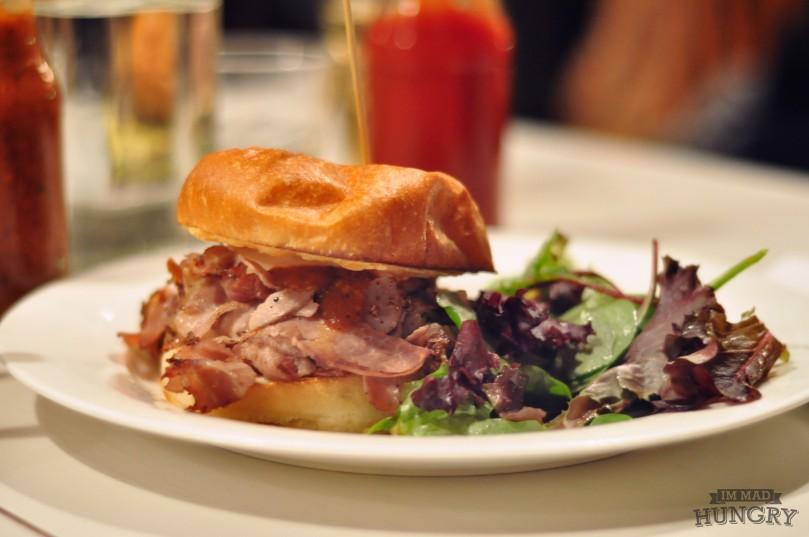 Sandwich   Prochetta on a Bun   $10