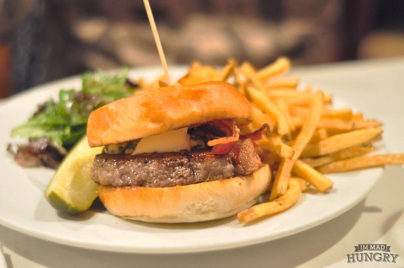 Burger   Ol'Blue Burger with fries   $15