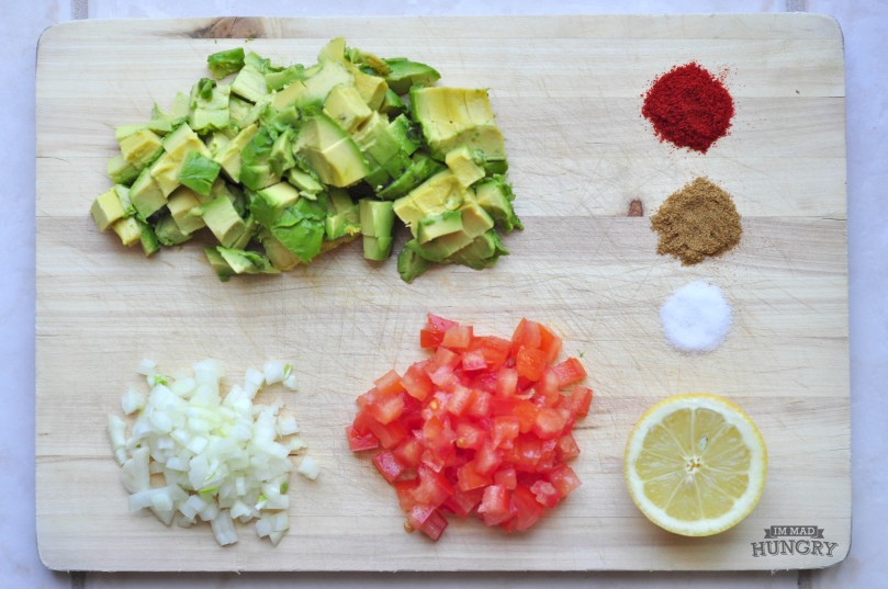 Chopped Guacamole Ingredients