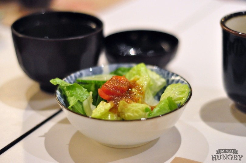 Complimentary Salad and Miso Soup