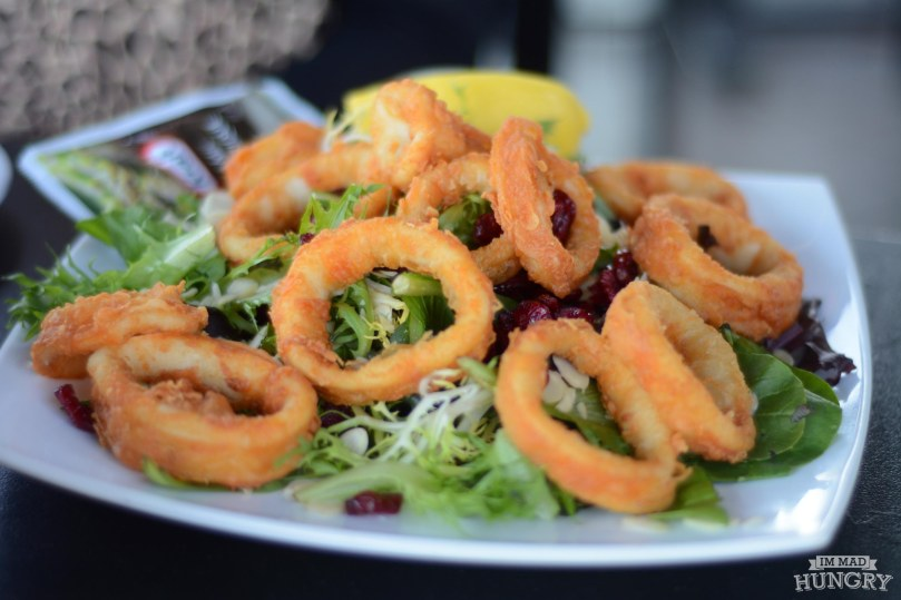 Fruit and Almond Salad with Calamari