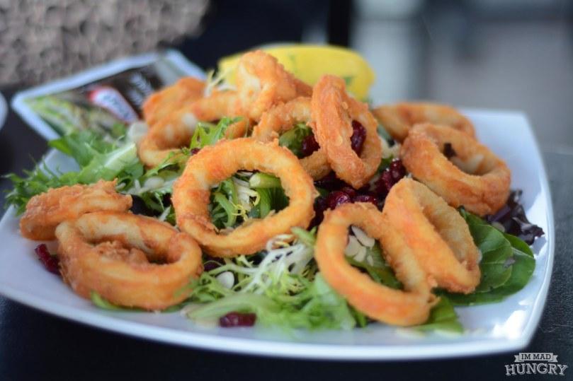 Fruit and Almond Salad with Calamari