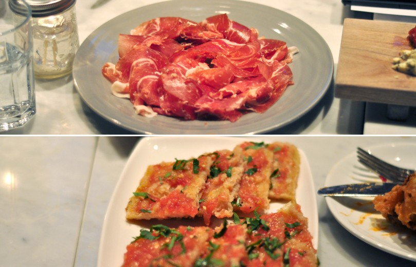 Serrano Ham and Pan Cristal con Tomate