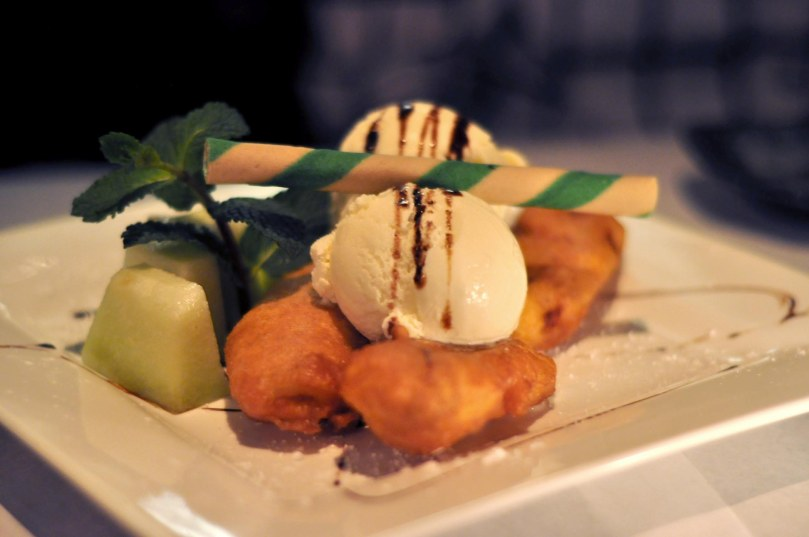 Deep Fried Banana with Vanilla Ice Cream  |  $10