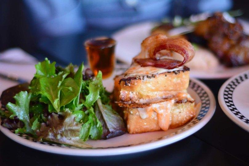 Super Cheesy Bacon French Toast   $18