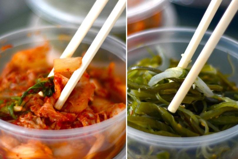 Delucious Banchan | Kimchi and seaweed