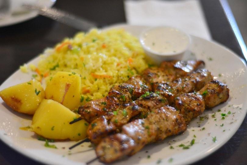 Pork Souvlaki | $14