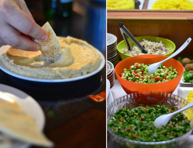Hummus and Salads