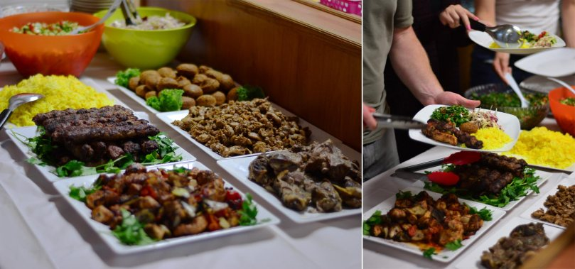 Nabil's grilled meats and salads