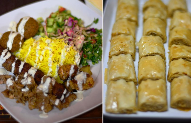 Nabil's dinner and baklava