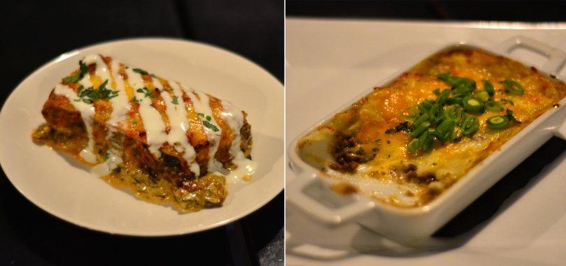 Mushroom Lasagna $16 | Ken's Shepherd's Pie $12