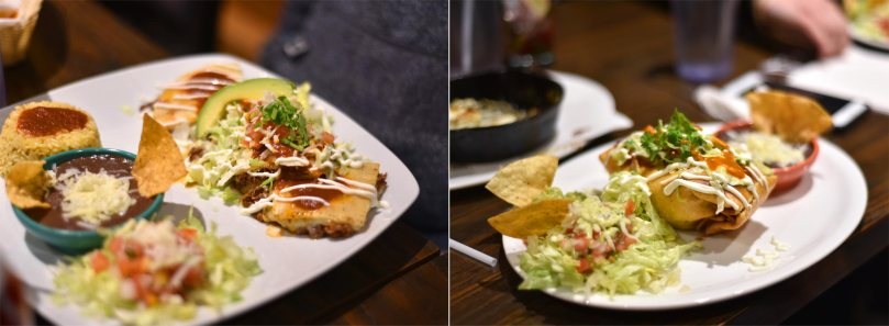 Quesadillas [$14.50] | Chimichangas [$14.50]