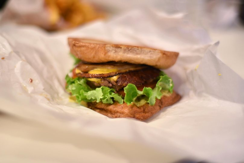 California Burger $7.39 + $1.79 (low gluten bun)