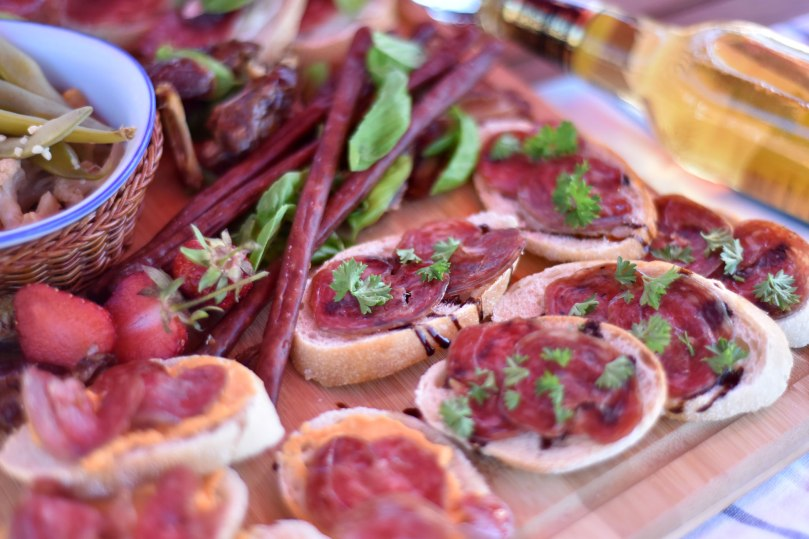 Barcelon Salami with Balsamic Reduction