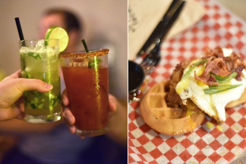 Gin Ginger & Coop Caesar | Chicken and Waffles