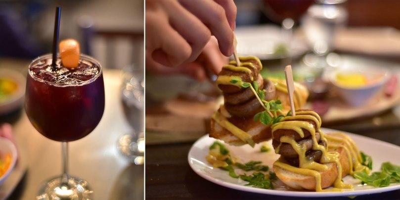 Sangria | Crab Cake Mushroom Stack $12
