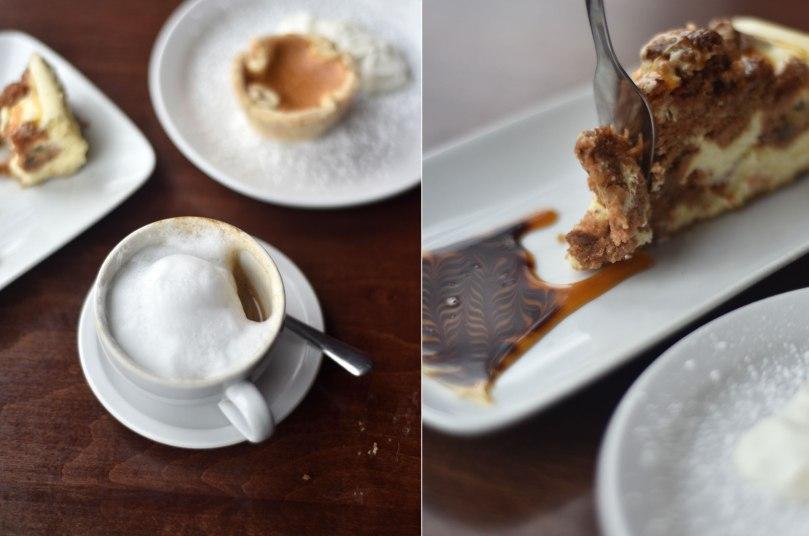 Cappuccino, Carrot Caramel Cheesecake, Butter Tart