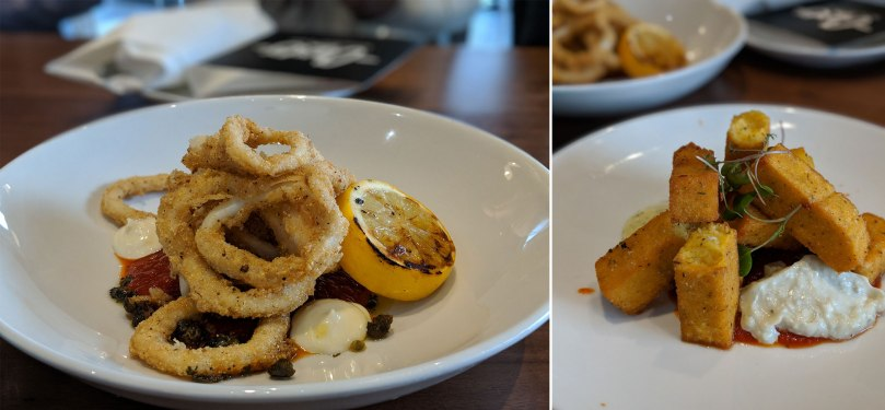 Calamari $8 | Polenta Fries $7
