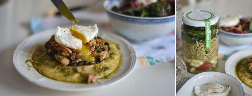 Mushroom Polenta and Pasta Salad