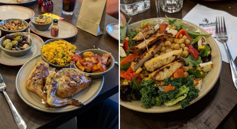 Half chicken | Chicken & halloumi salad